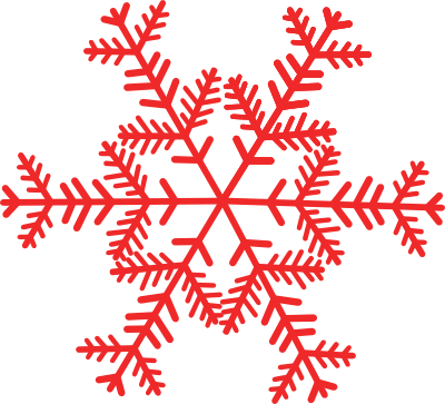 400x363 Free Red Snowflake Clipart