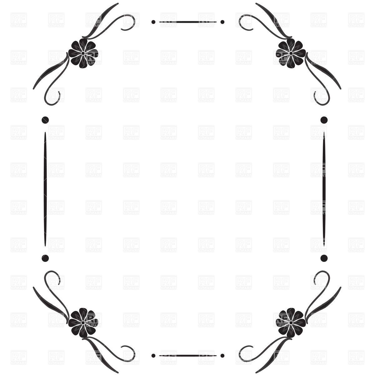 1200x1200 Simple Square Vintage Frame With Vignettes In Corner Royalty Free