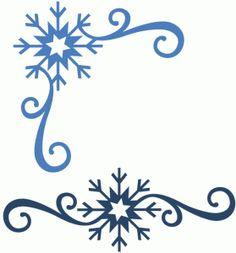 236x253 Snowflake Corner Clip Art