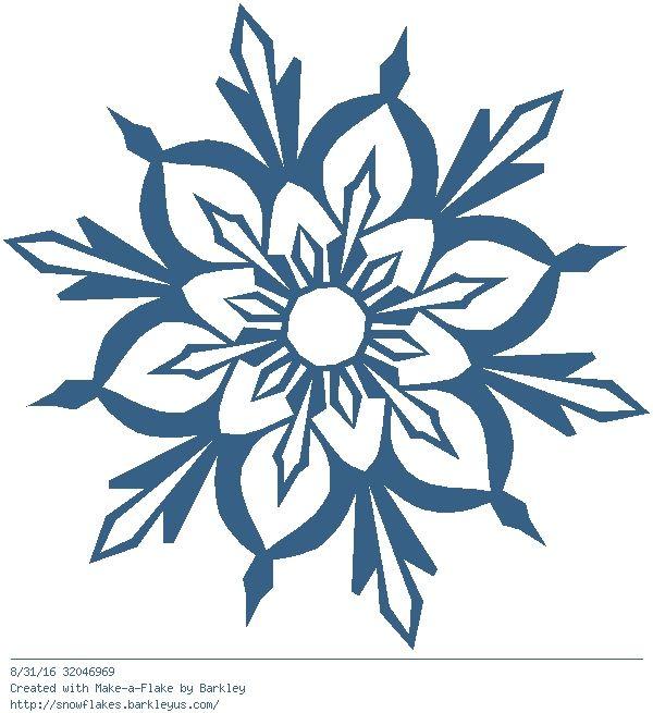 600x655 490 Best Snowflake Silhouettes, Vectors, Clipart, Svg, Templates