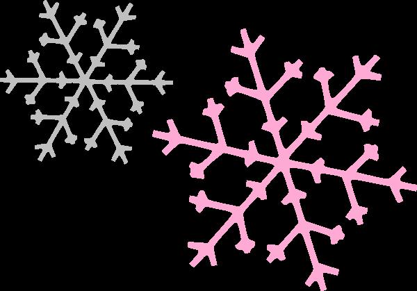 600x419 Snowflake Corner Cliparts