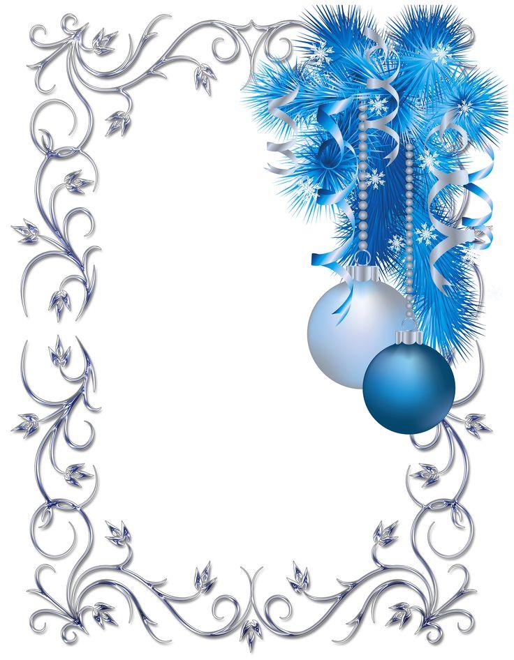 736x946 Blue Christmas Clipart