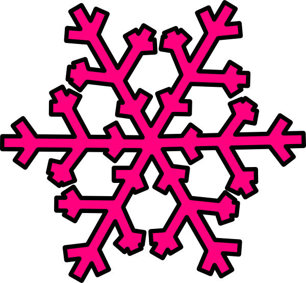 600x554 Pink snowflake clipart free images 2