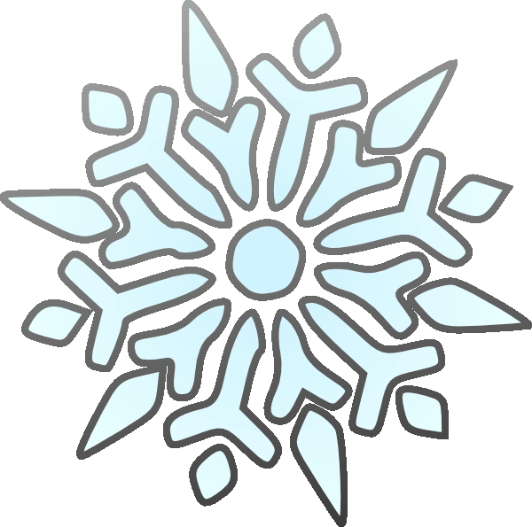 600x595 Snowflake Clipart Frpic