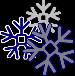 297x300 Snowflake Clipart Dark Blue