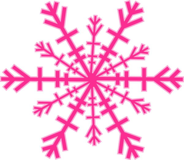 600x520 Snowflake Clipart Pink Snowflake