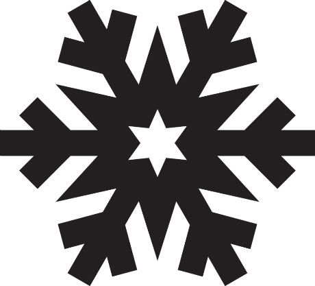460x417 Snowflake clipart silhouette