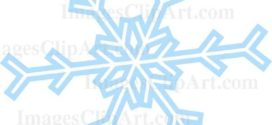 272x125 white snowflake clipart clear background