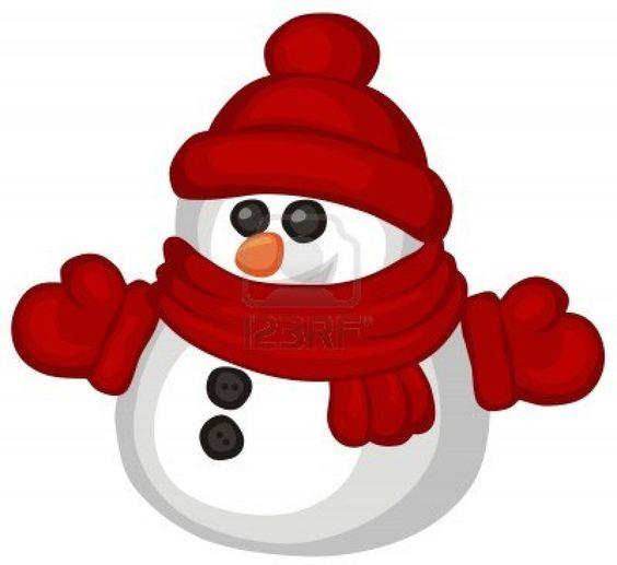 564x517 Cute Snowman Clipart