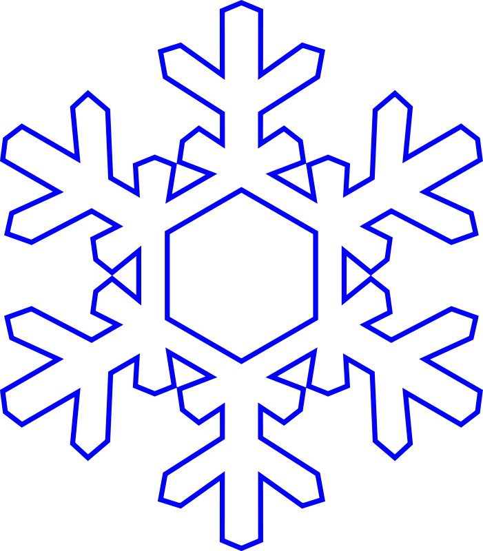 701x800 Free Snowflake Clipart Transparent Background 2