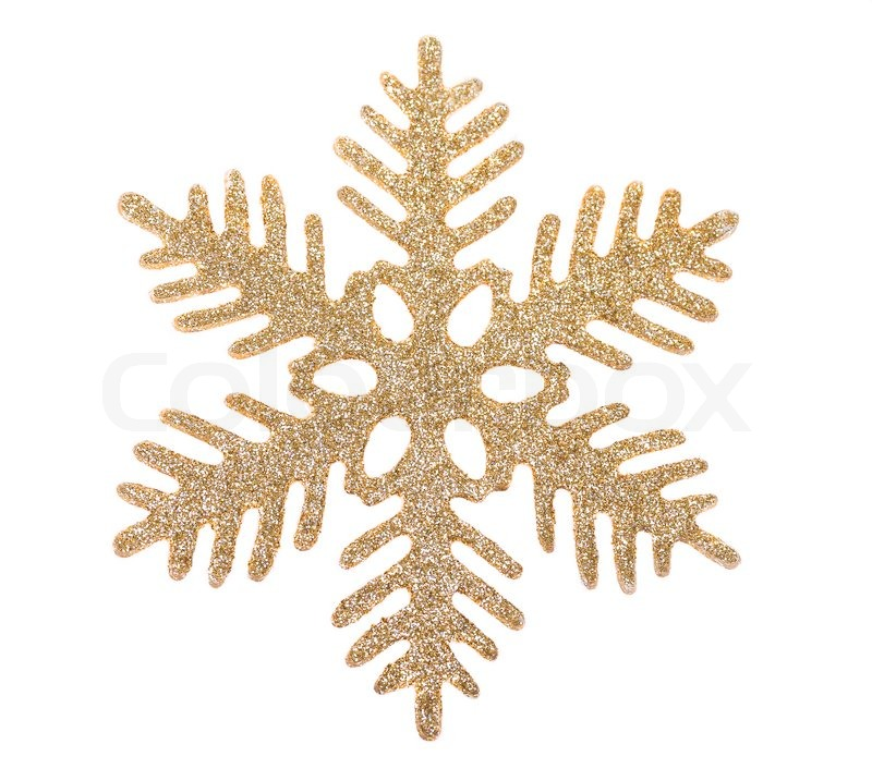 800x717 Gold Snowflake Isolated On White Background Stock Photo Colourbox