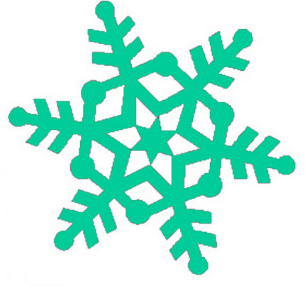 430x403 Green Snowflake Clipart Transparent Background