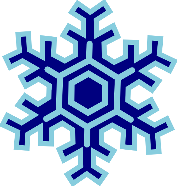 570x598 Snowflake Clip Art