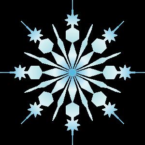300x300 Snowflake Corner Cliparts