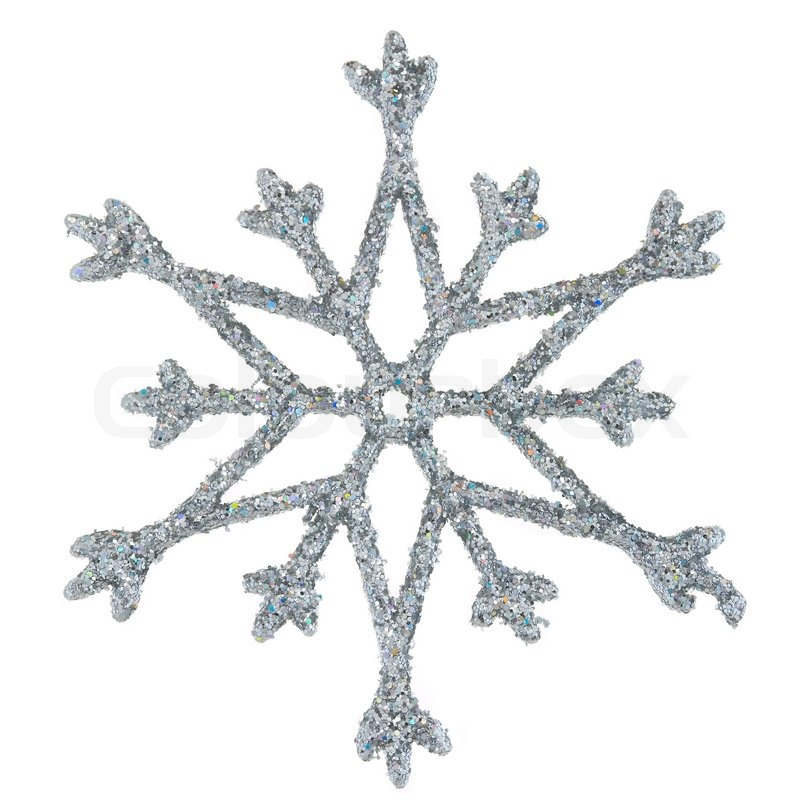 800x800 Snowflake Photo On A White Background Stock Photo Colourbox