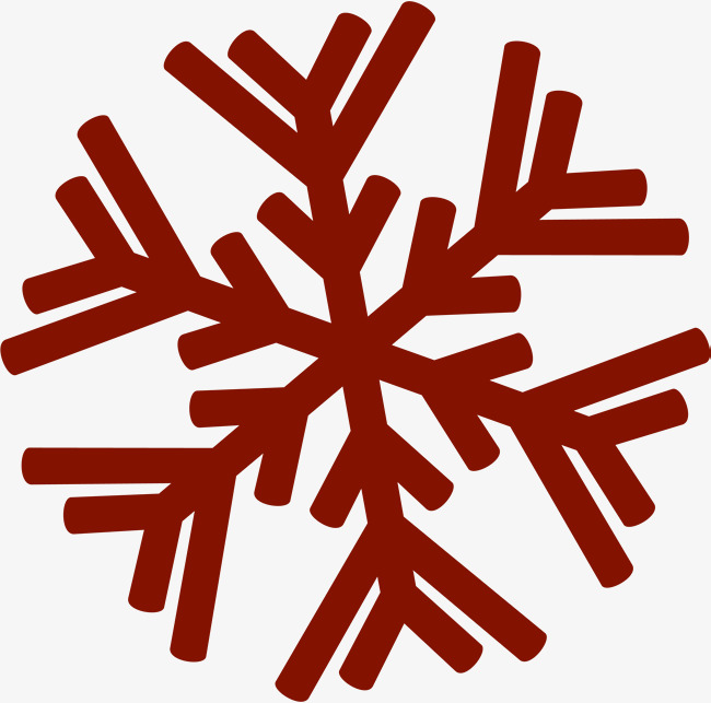 650x643 Cartoon Red Snowflake, Cartoon, Gules, Snowflake Png Image