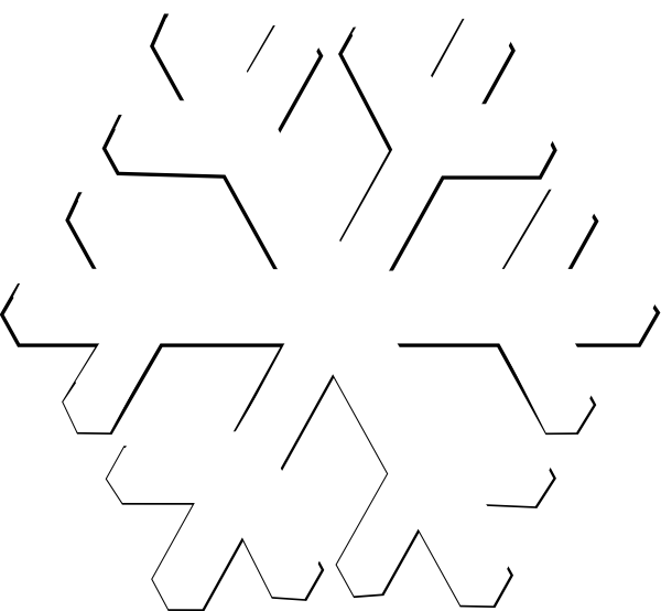 600x554 White Snowflake Clipart Transparent Background