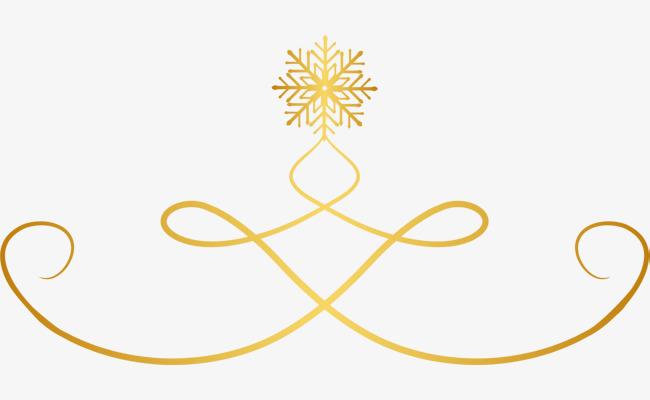 650x400 Golden curve snowflake, Golden Curve, Fresh Snowflake, Atmospheric