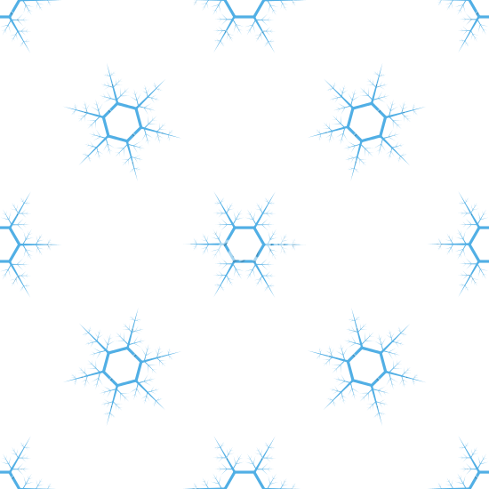 550x550 Holiday Snowflake Shaped Ornaments on Weathered Wood