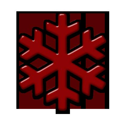 420x420 Single Snowflake (Snowflakes) Icon Version 2
