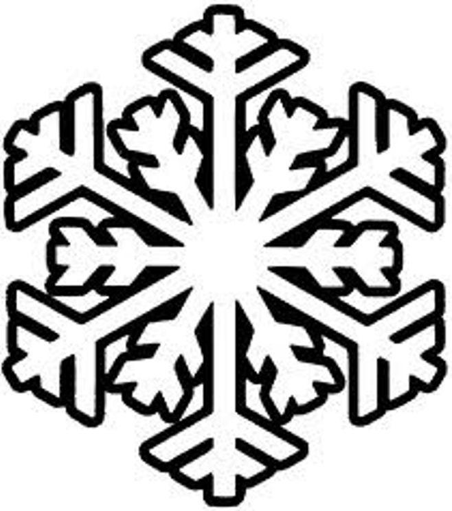 658x744 Snowflake Clip Art Free