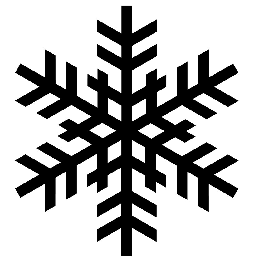 830x830 Snowflake Clipart Black And White Png