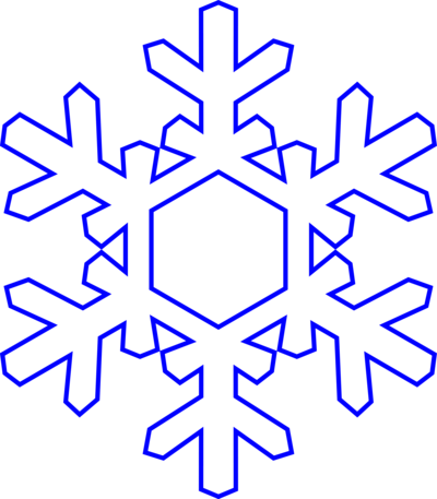 400x457 Snowflake Clipart Transparent Background