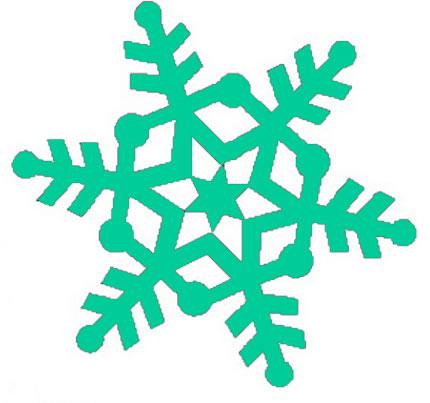 430x403 Snowflake clipart 4