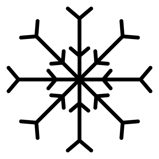 512x512 Snowflake line cubes