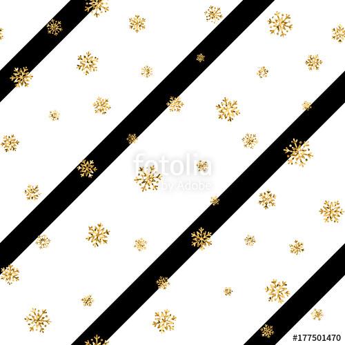 500x500 Christmas Gold Snowflake Seamless Pattern. Golden Glitter