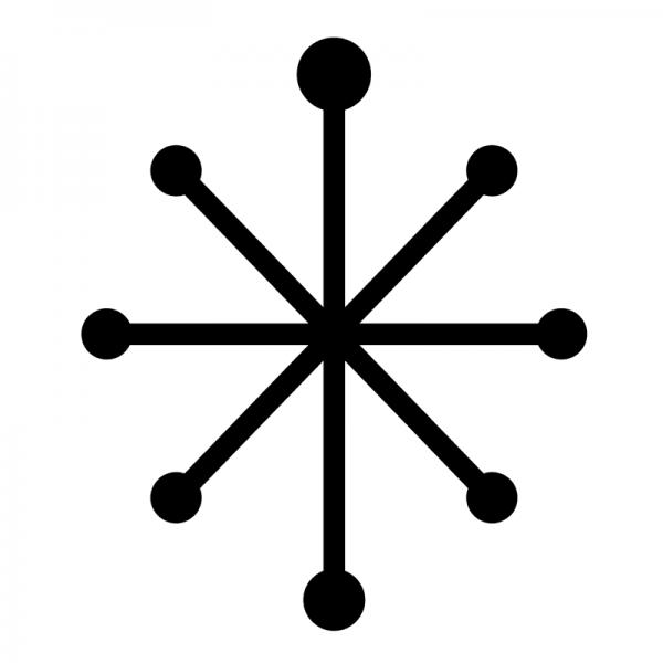 600x600 Christmas Snowflakes Shop Window Sticker Kit