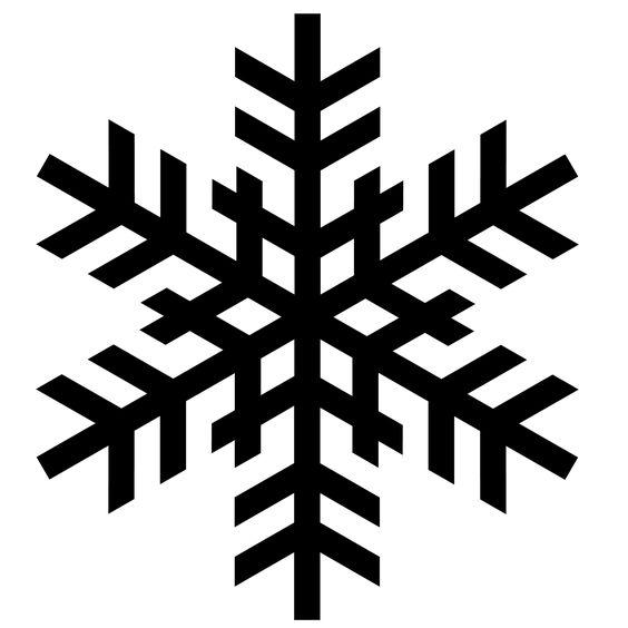 564x564 Christmas Tree Clipart Simple Snowflake