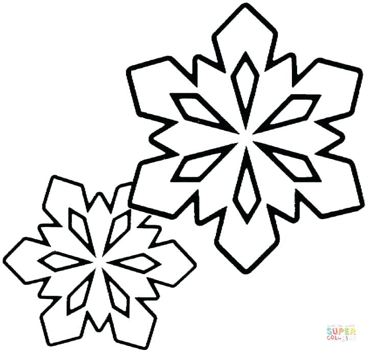 719x691 Frozen Snowflake Colouring Pages Click The Two Little Snowflakes