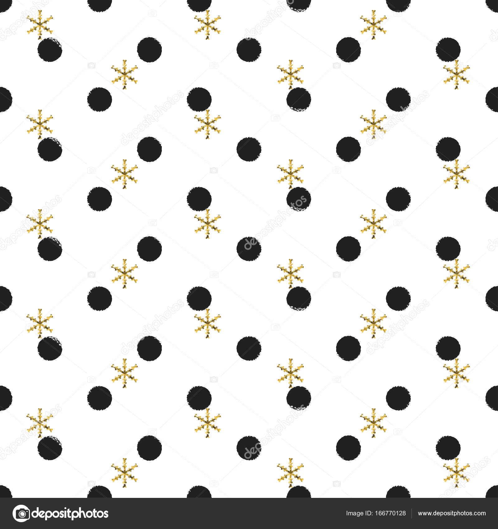 1600x1700 Glitter Gold Polka Dot Christmas New Year Seamless Pattern