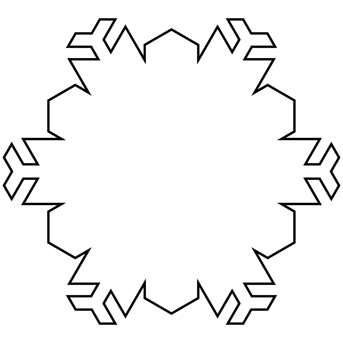 1200x1200 Nature Winter Snowflakes Coloring Pages