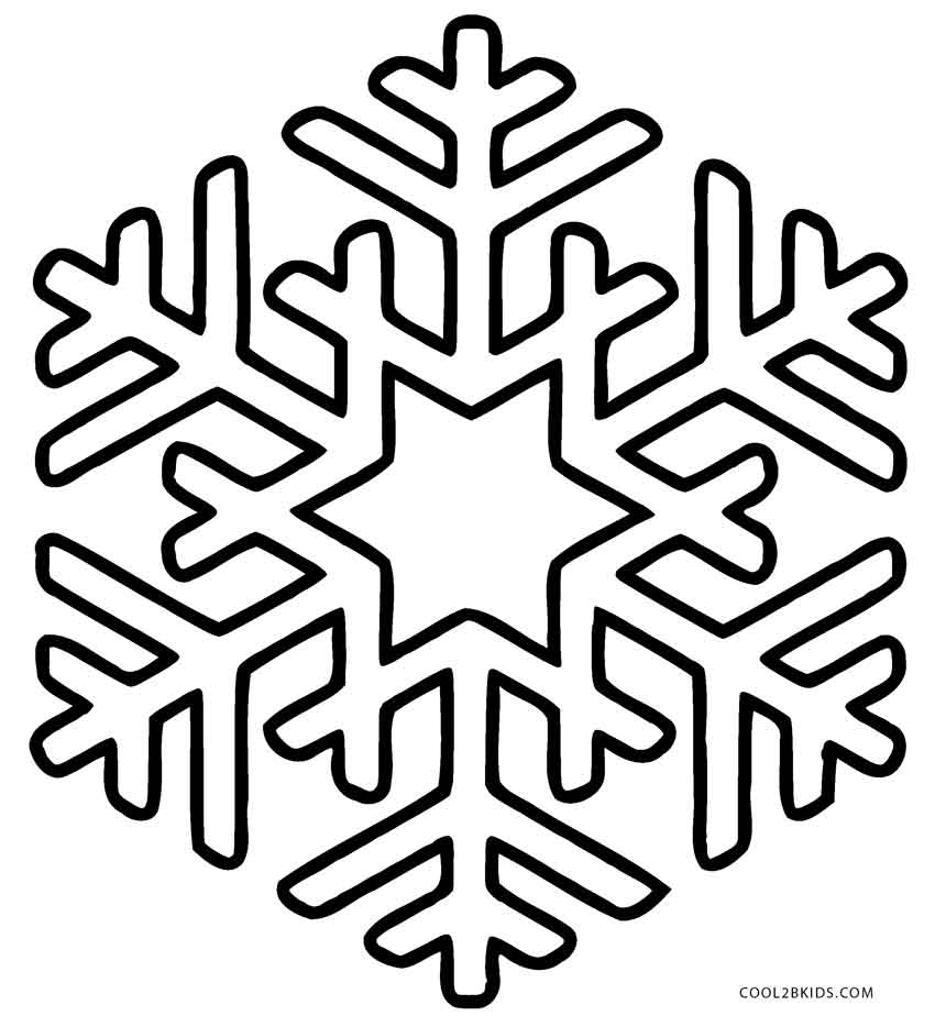 850x934 Printable Snowflake Coloring Pages For Kids Cool2bkids