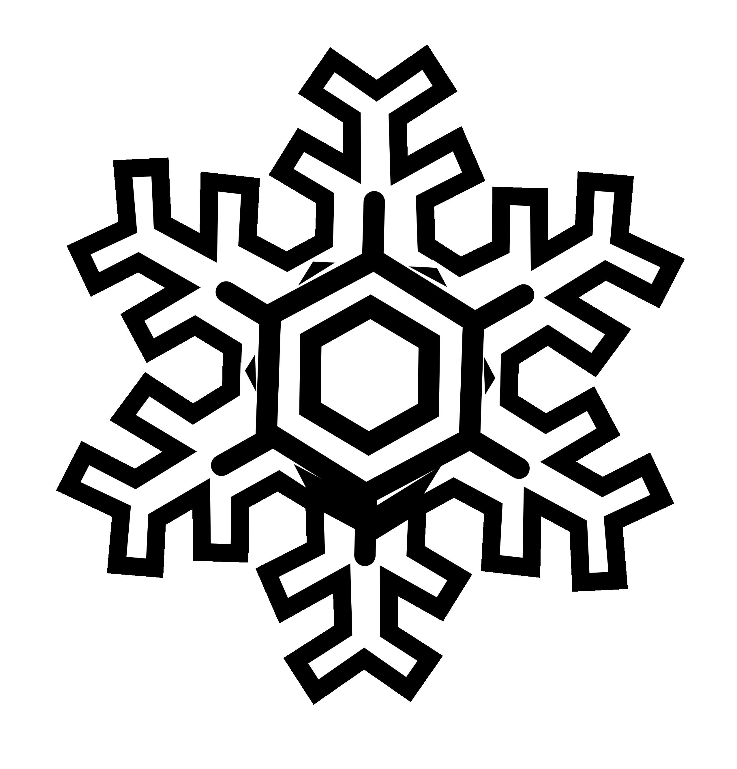 2555x2666 Snowflake Clipart Black And White Clipart Panda