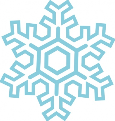405x425 Snowflake Line Clipart