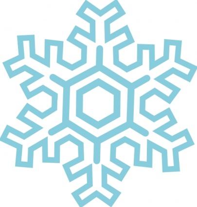 405x425 Snowflake Line Clipart