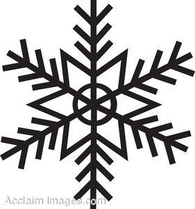 281x300 Black Snowflake Clipart