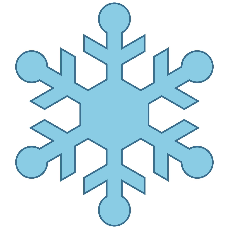 1500x1500 Snowflake Clipart Black And White Free 3