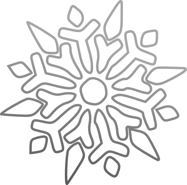 600x595 Snowflake Clipart Black Background