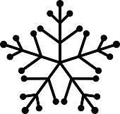 170x162 Black Snowflake Clipart