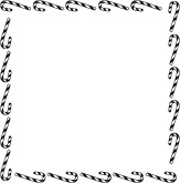 163x165 Black Streamers And Snowflakes Border Christmas Borders