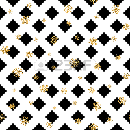 450x450 Christmas Gold Snowflake Seamless Pattern, Golden Snowflakes