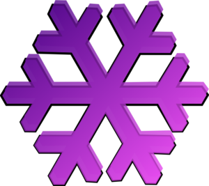300x267 Snowflake clipart dark purple