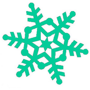 300x300 Free Snowflake Cliparts