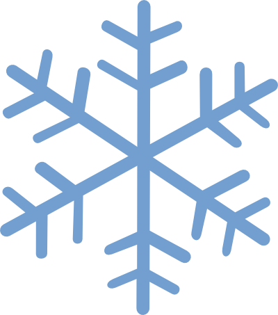 400x453 Snowflake Divider Clipart