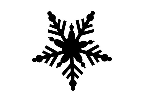 500x350 silhouette clipart snowflake