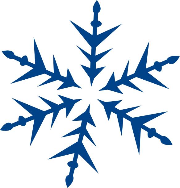 583x609 Blue Snowflake Free Clipart